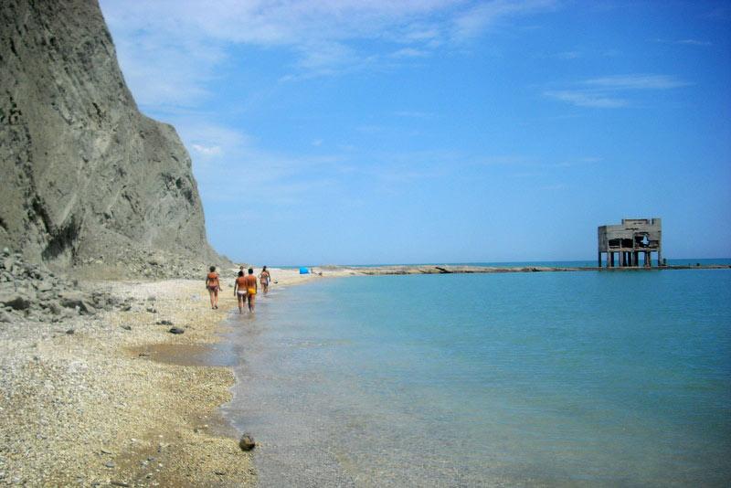 Spiaggia Del Trave Nella Riviera Del Conero Marche Italy