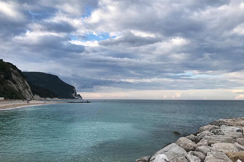 Riviera del Conero estate 2018 Pioggia